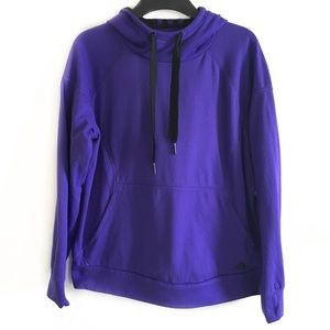 Adidas youth purple hooded pullover Large 16-18